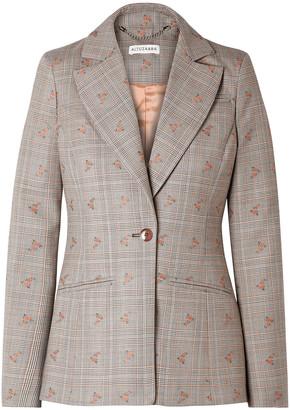 Altuzarra Embroidered Checked Wool-blend Blazer