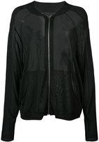 Barbara Bui sheer bomber jacket - women - Viscose - XS/S