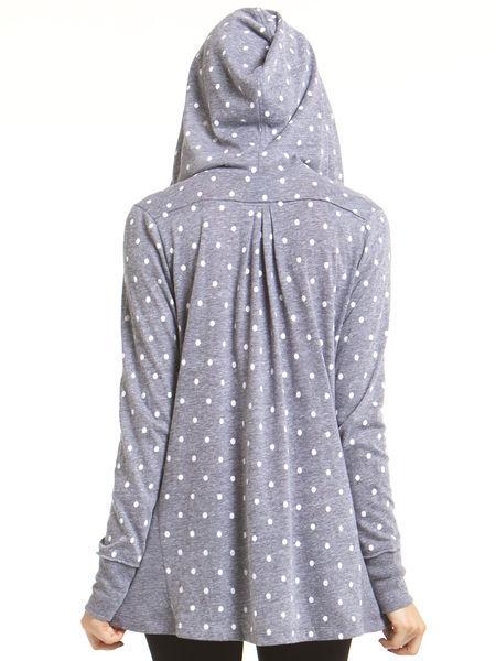 C&C California Polka dot printed hi-lo hoodie