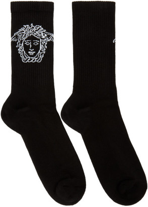 Versace Black Medusa Socks