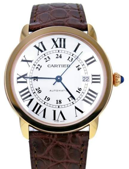 Cartier Calibre W6701009 18K Rose Gold & Leather Automatic 42mm Mens Watch 2015