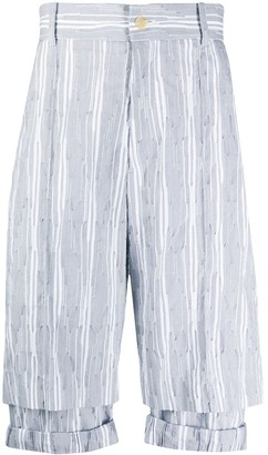 Chalayan Striped Double Layer Shorts