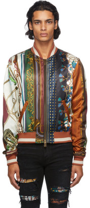 Amiri Multicolor Scarf Patchwork Bomber Jacket