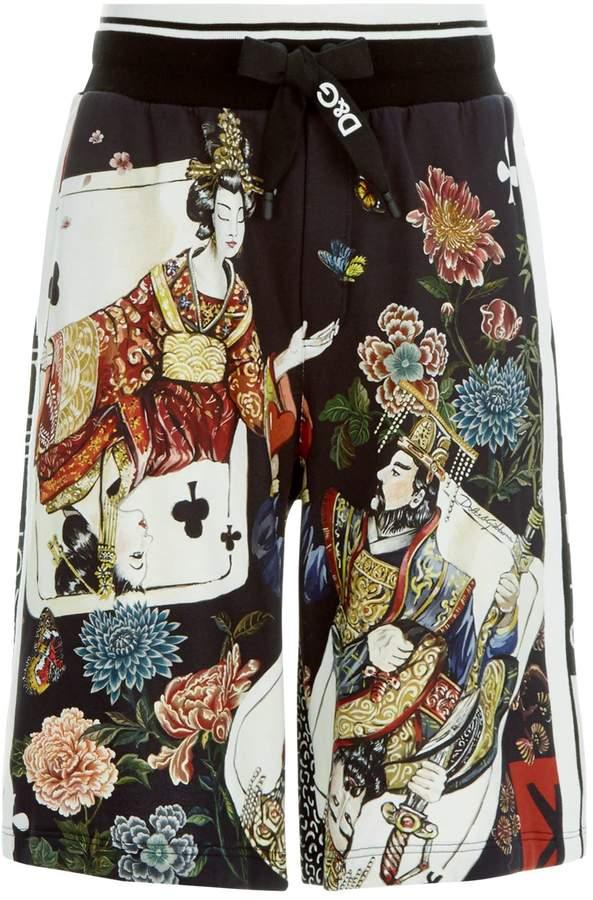 Dolce & Gabbana Japanese Playing Card Shorts
