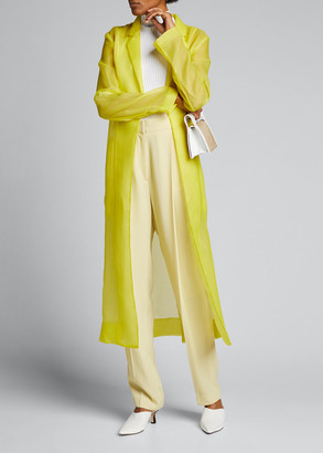 Jason Wu Collection Crinkled Organza Trench Coat