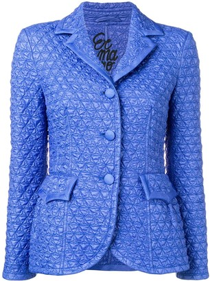 Ermanno Scervino Quilted Single-Breasted Blazer