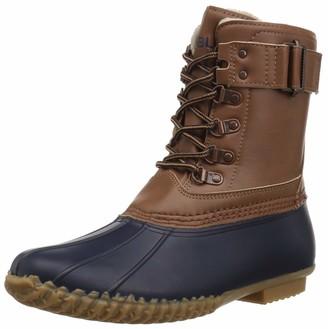 Jambu JBU Women's Ontario Weather Ready Rain Boot Navy/tan 6 Medium US