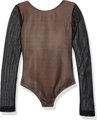 COSMOPOLITAN x Dress the Population Junior's Brigette Plunging Halter Bodysuit