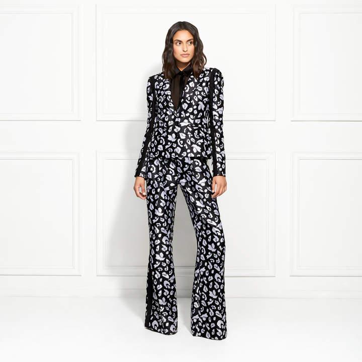 Rachel Zoe Cynthia Snow Leopard Jacquard Blazer