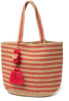 America & Beyond Fusion Coral Handwoven Tote