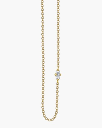 Lizzie Mandler Baguette Diamond Floating Necklace