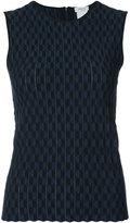 Akris Punto circular pattern fitted blouse