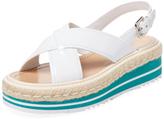 Prada Slingback Wedge Sandal