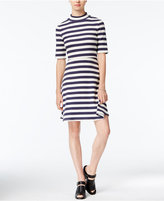 Maison Jules Striped Fit & Flare Dress, Only at Macy's
