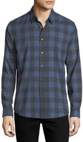 Theory Brushed Check Cotton Shirt