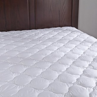 Pure Down Puredown Down Alternative Mattress Pad/Topper-Quilted-100% Cotton Top, Four-leaf Clovers Pattern, King Size