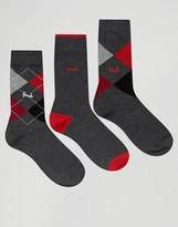 Pringle Strathaven Socks In 3 Pack Gray