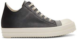 Rick Owens Black Degrade Low Top Sneakers