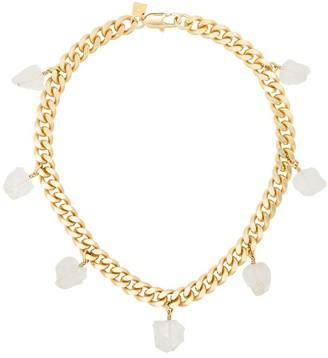 Märta Larsson 18kt Gold Vermeil Clear Quartz Collar Necklace
