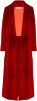 Oscar de la Renta Notch Collar Fur Coat