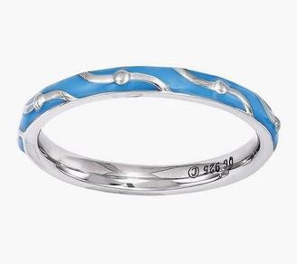 Simply Stacks Sterling Wavy Epoxy Enamel Ring