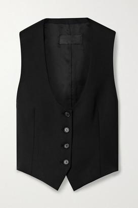 Nili Lotan Colin Wool-blend Twill Vest - Black