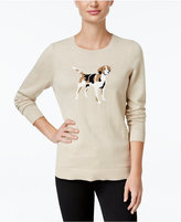 Charter Club Dog Graphic Sweater, Only at Macy's