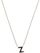 KC Designs Rose Gold Black Diamond Letter Z Necklace