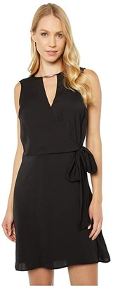 MICHAEL Michael Kors Crossover Dress (Black) Women's Dress