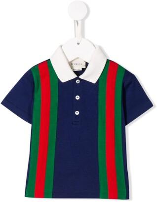 Gucci Kids Classic Stripe Polo Shirt