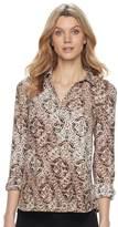Dana Buchman Women's Button-Placket Shirt
