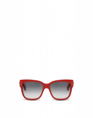Moschino Sunglasses With Teddy Bear Decoration Woman Red Size Single Size