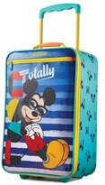 """American Tourister Disney Mickey Mouse 18"""" Softside Rolling Suitcase By"""