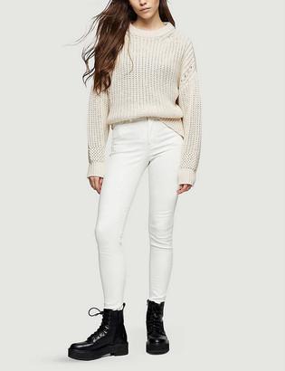 Topshop Jamie skinny high-rise stretch-denim jeans