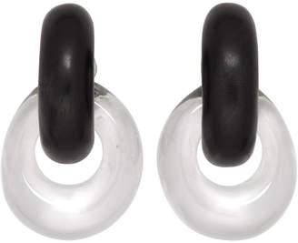 Monies Jewellery Black and Transparent Drop Earrings