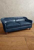 Anthropologie Premium Leather Holloway Settee