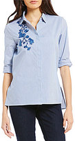 Westbound Button Front Embroidered Shirt