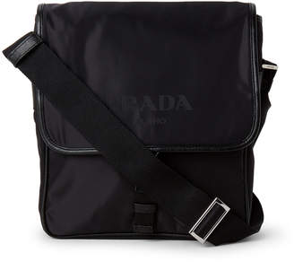 Prada Black Flap Reporter Nylon Crossbody