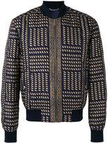 Versace Tribal Medusa print bomber jacket - men - Cotton/Silk/Acrylic/Spandex/Elastane - 48