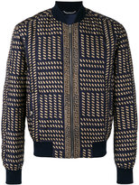 Versace Tribal Medusa print bomber jacket