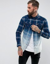 Diesel S-Courty Shirt Long Sleeve Ombre Check