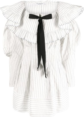 Philosophy di Lorenzo Serafini Pinstriped Bow Dress