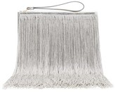 Hillier Bartley Fringed Leather Pouch - Womens - Silver