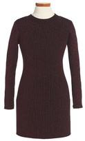 Milly Minis Girl's Metallic Rib Sweater Dress