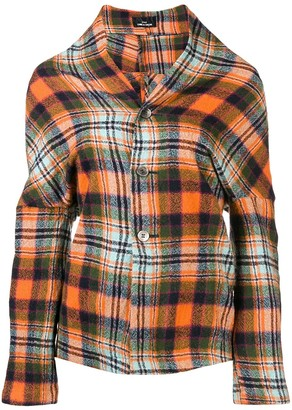 Comme des Garcons Pre Owned plaid deconstructed jacket
