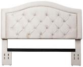 Hillsdale Abbyson Living Tufted Velvet Headboard, Ivory, Full/Queen