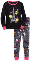 Petit Lem Paris Emoji Long Sleeve Pajama Set (Toddler & Little Girls)