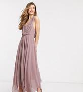 Asos Tall DESIGN Tall drape bodice midaxi dress embellished