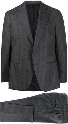 Caruso Single-Breasted Wool Suit