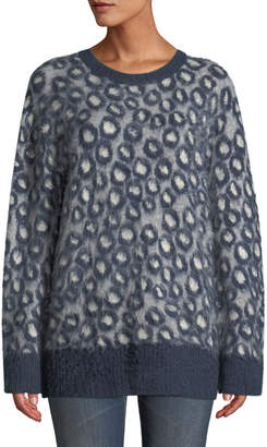 Current/Elliott The Cali Leopard-Print Pullover Sweater